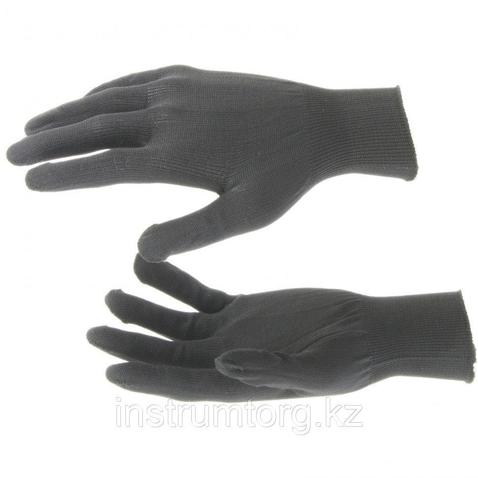 Перчатки нейлон, 13 класс, чёрные, XL// Россия