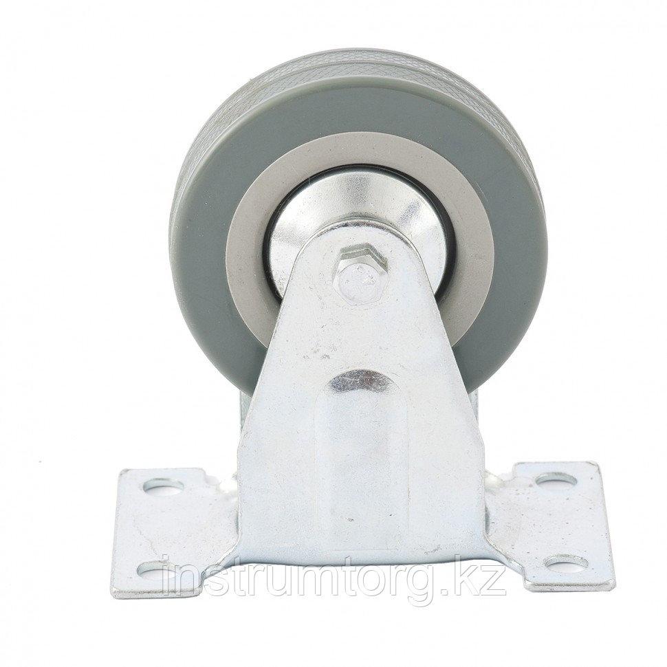 Колесо неповоротное, диаметр 75 мм, крепление  платформенное// Сибртех