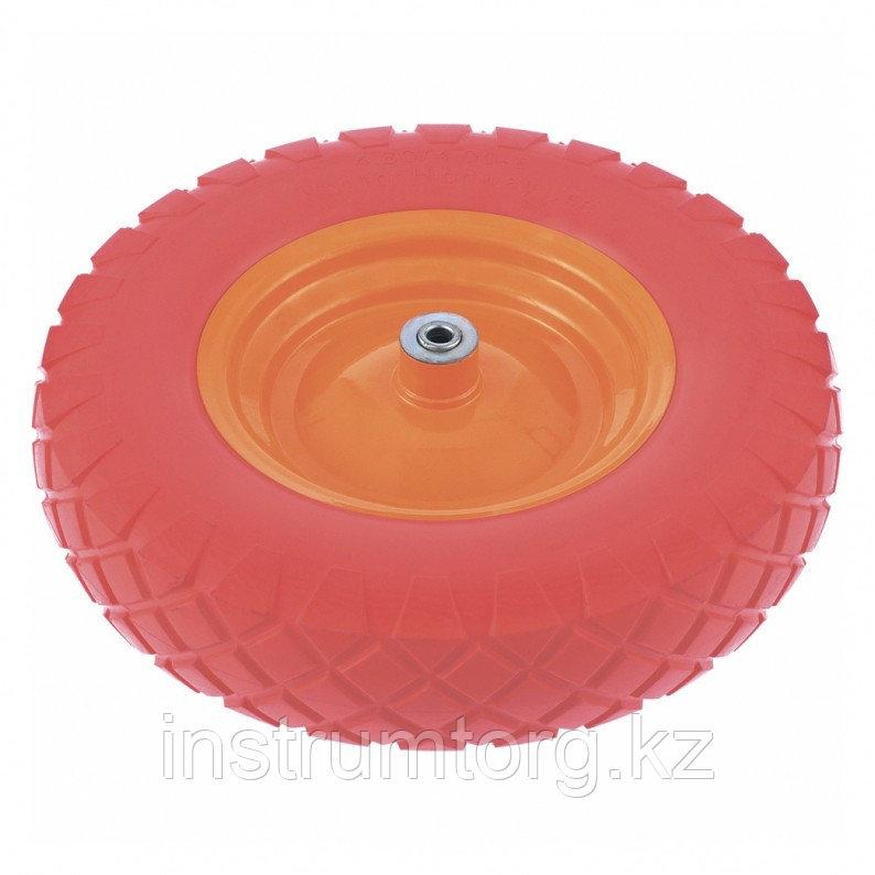 Колесо полиуретановое 4.80/4-8, длина оси 90мм, подшипник 20мм//Palisad