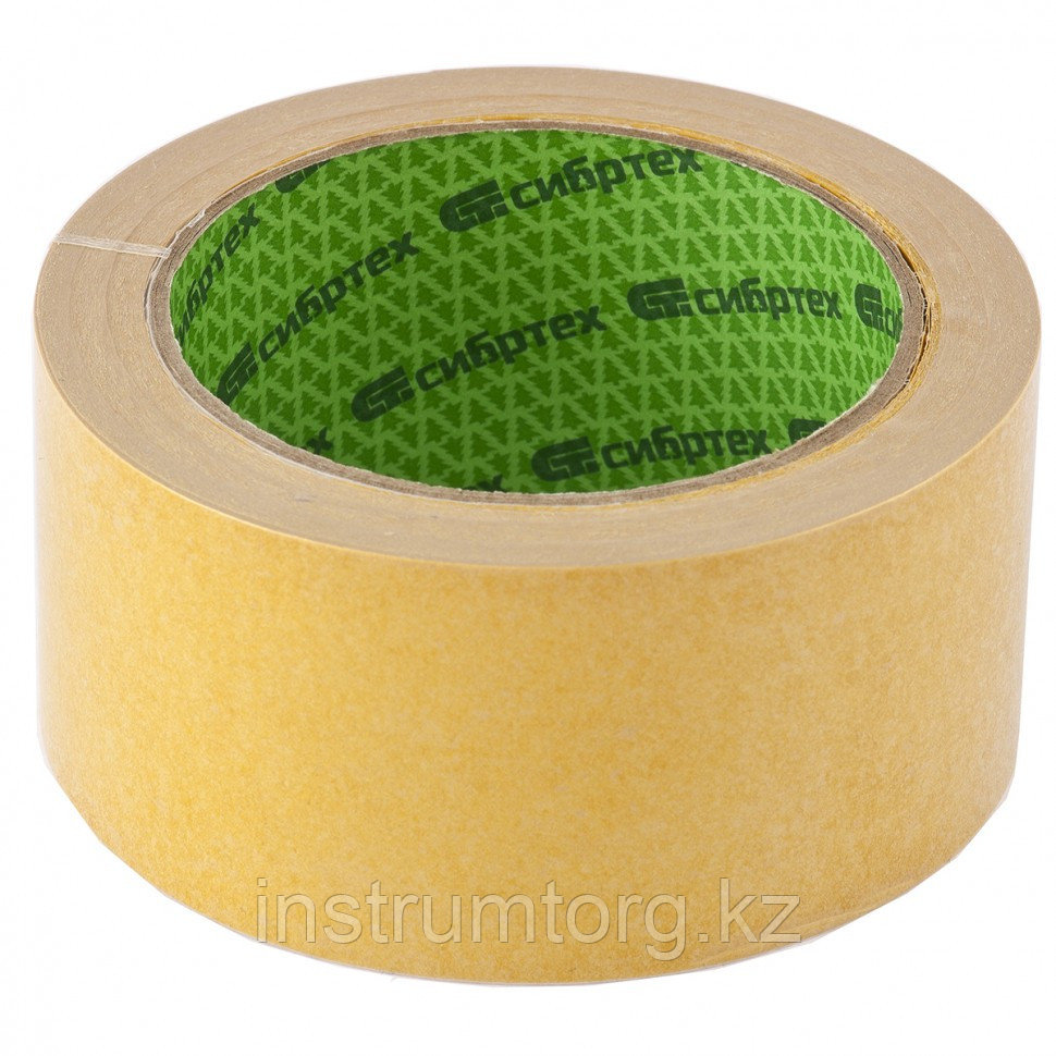 Лента клейкая двусторонняя, 50 мм х 5 м, на тканевой основе// Сибртех