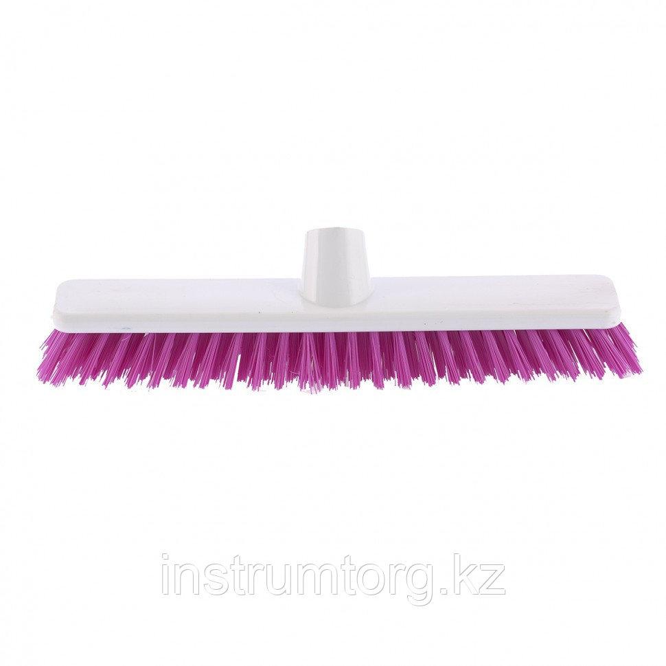 """Щетка пластмассовая """"SHROBER"""" для чистки ковров 270 мм, розовая щетина// Elfe"""