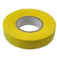 Изолента ПВХ, 15 мм х 10 м, желтая// Сибртех