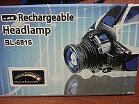 Аккумуляторный налобный фонарь BL-6816