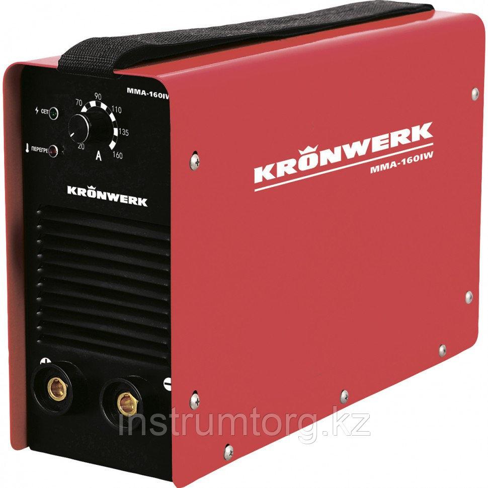 Аппарат инвертор. дуговой сварки ММА-180IW, 180 А, ПВР 60%, диам.эл.1,6-4 мм, провод 2м// KRONWERK