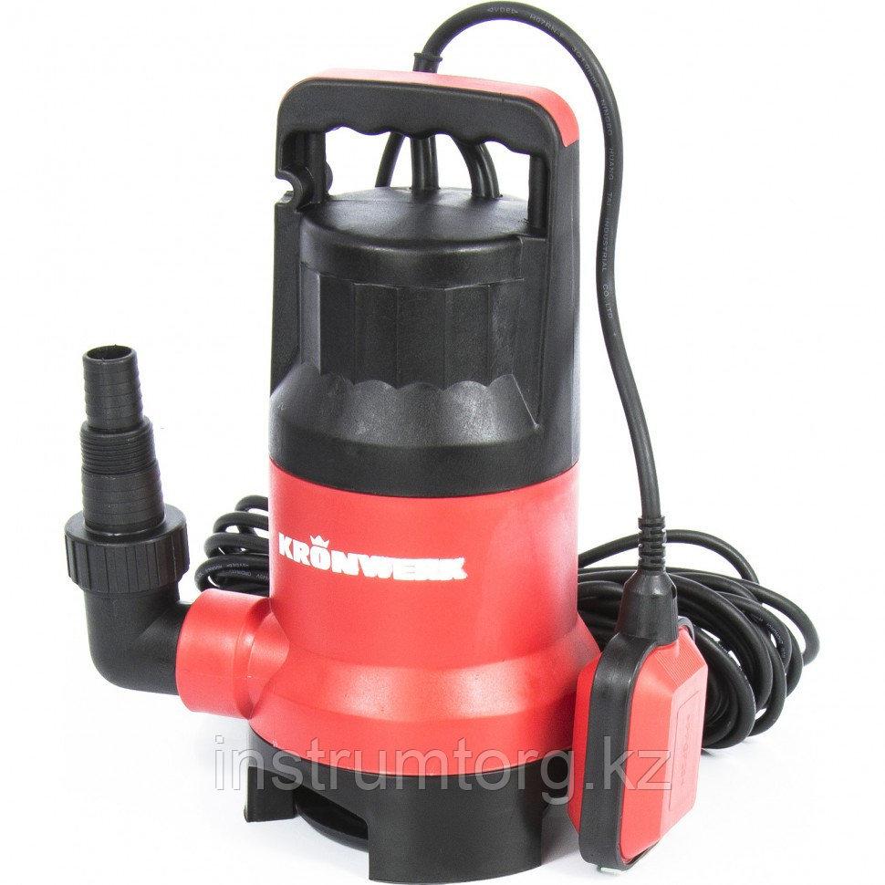 Дренажный насос для грязной воды KP450, 450 Вт, подъем 6,5 м, 8000 л/ч // Kronwerk