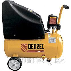 Компрессор воздушный безмасляный LC 24-195, 1.1 кВт, 195 л/мин, 24л, 8 бар// Denzel