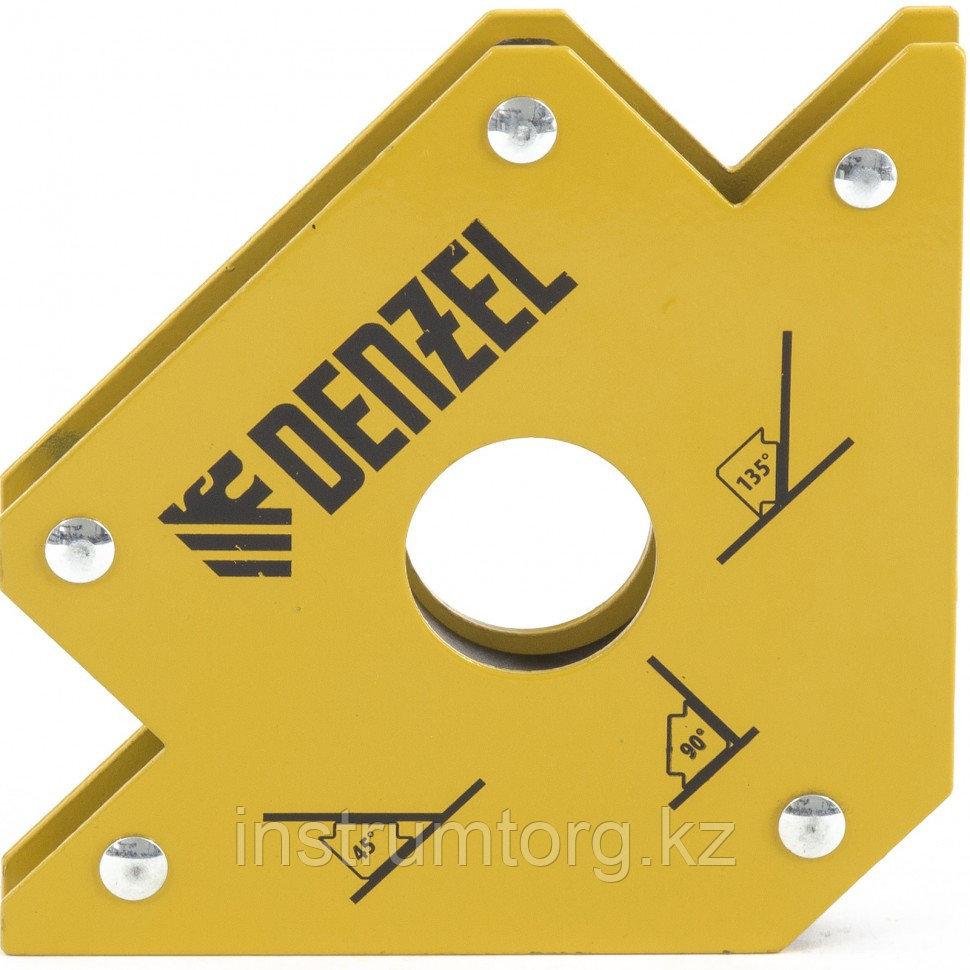 Фиксатор магнитный для сварочных работ усилие 50 LB// Denzel
