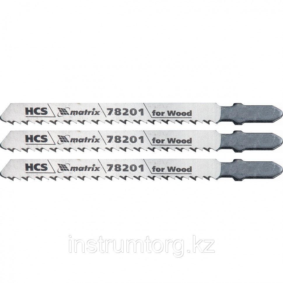 Полотна для электролобзика по дереву, 3 шт. T101B, 75 х 2,5мм, HCS// Matrix