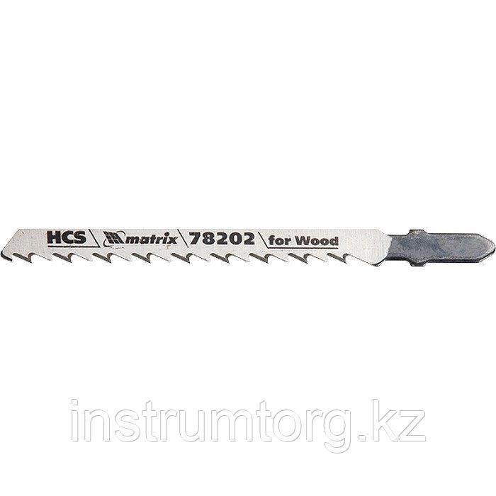 Полотна для электролобзика по дереву, 3 шт. T101D, 75 х 4,0мм, HCS// Matrix
