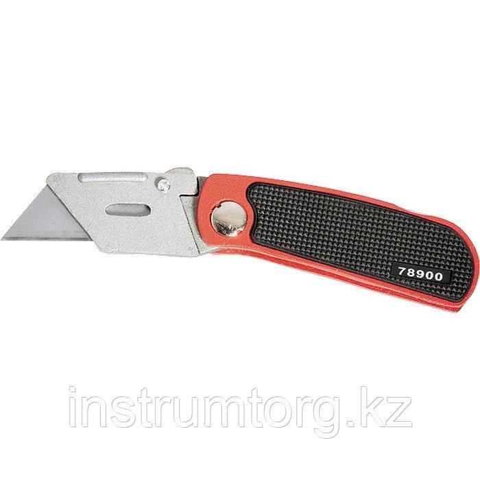 Нож, 18 мм, складной, сменное трапециевидное лезвие, + 10 лезвий// MATRIX MASTER