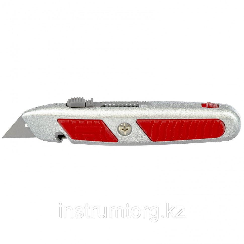 Нож, выдвижное трапециевидное лезвие, отделение для лезвий, метал.корпус// Matrix