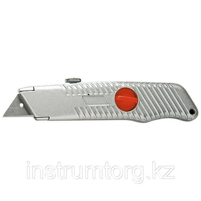 Нож, выдвижное трапециевидное лезвие, металлический корпус// Matrix