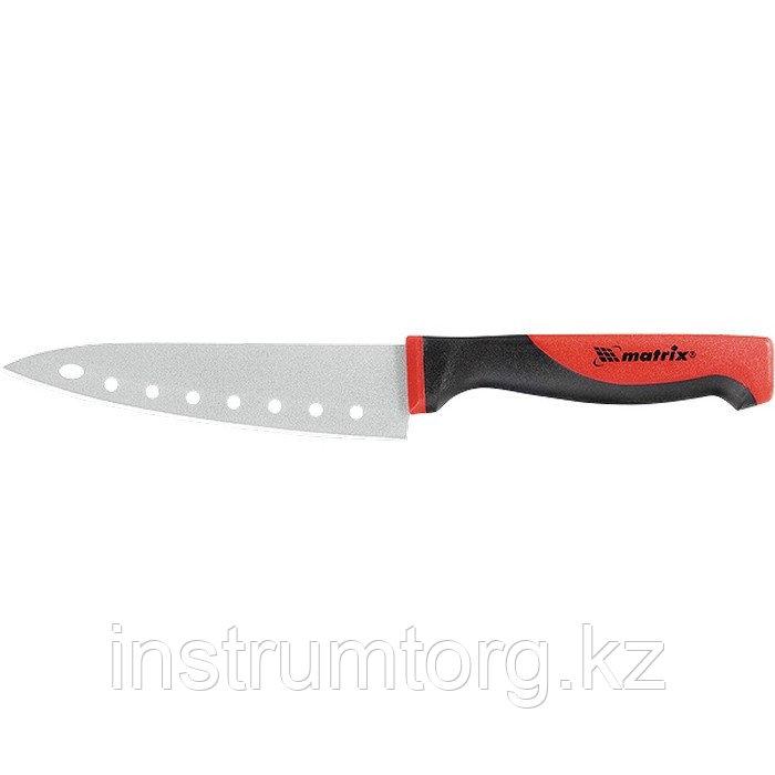"""Нож поварской """"SILVER TEFLON"""" medium, 120 мм, тефлон. покрытие полотна, двухк. рук. KITCHEN// Matrix"""