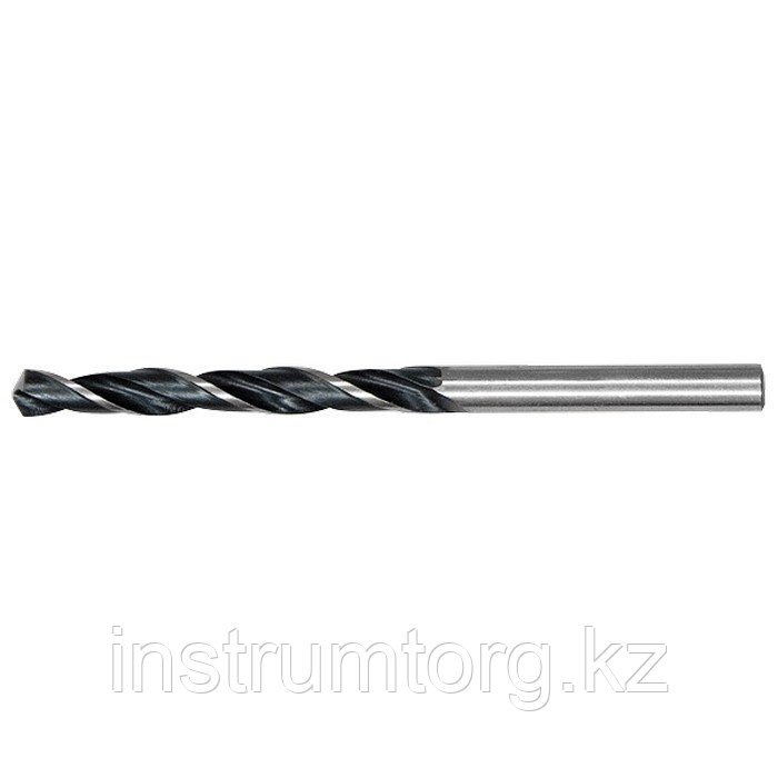 Сверло по металлу, 5,5 мм, быстрорежущая сталь, 10 шт. цилиндрический хвостовик// Сибртех