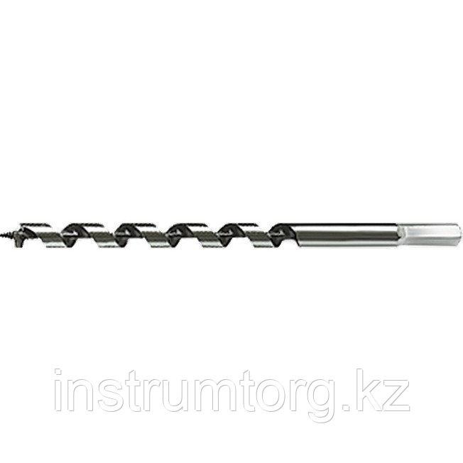 Сверло по дереву спиральное, 12х230 мм 6-гранный хвостовик// MATRIX