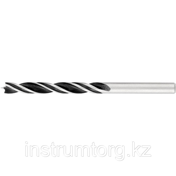 Сверло по дереву, 4 х 75/43 мм, двухспиральное// Барс