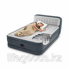 Двуспальная надувная кровать со спинкой и насосом, Intex 64448, фото 3