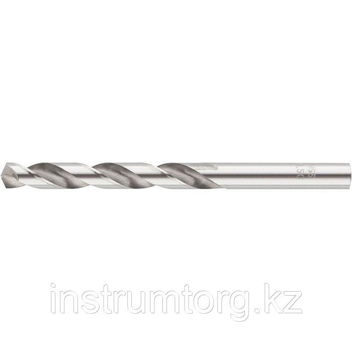 Сверло спиральное по металлу 8 x 117мм, Р6М5// Барс