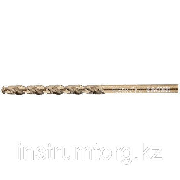 Сверло спиральное по металлу, 4,0 мм, HSS-Co// Gross