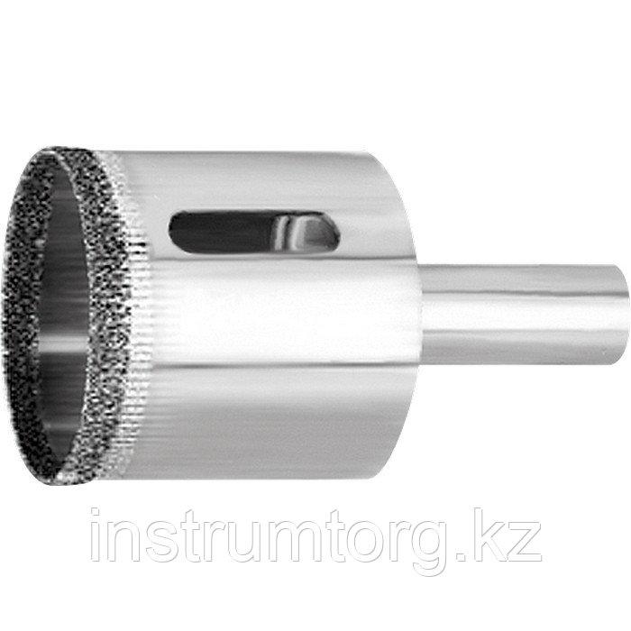 Сверло по стеклу и керамической плитке, 10 х 67 мм, 3-гранный хвостовик 2 шт.// Matrix