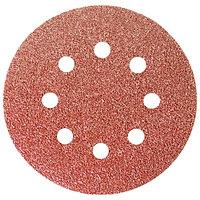 """Круг абразивный на ворсовой подложке под """"липучку"""", перфорированный, P 150, 125 мм, 5 шт.// Matrix"""