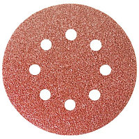 """Круг абразивный на ворсовой подложке под """"липучку"""", перфорированный, P 180, 125 мм, 5 шт.// Matrix"""