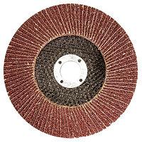 Круг лепестковый торцевой КЛТ-1, зернистость Р40(40Н), 125 х 22,2 мм, (БАЗ)// Россия