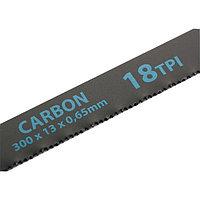 Полотна для ножовки по металлу, 300 мм, 18TPI, Carbon, 2 шт.// Gross