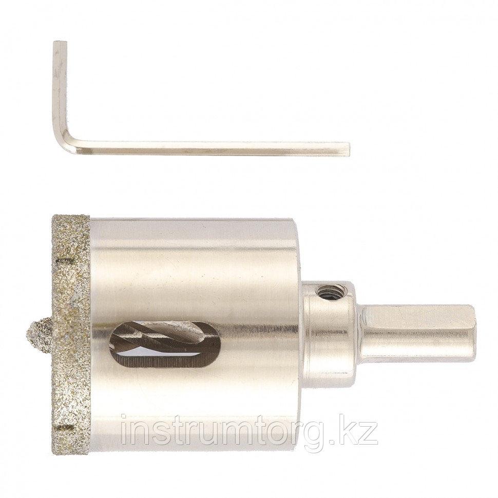 Сверло алмазное по керамограниту, 40 х 67 мм, 3-гранный хвостовик// Matrix