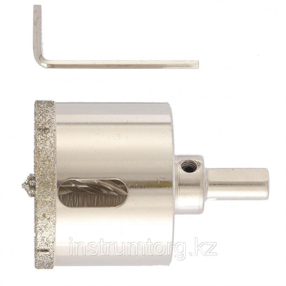 Сверло алмазное по керамограниту, 60 х 67 мм, 3-гранный хвостовик// Matrix