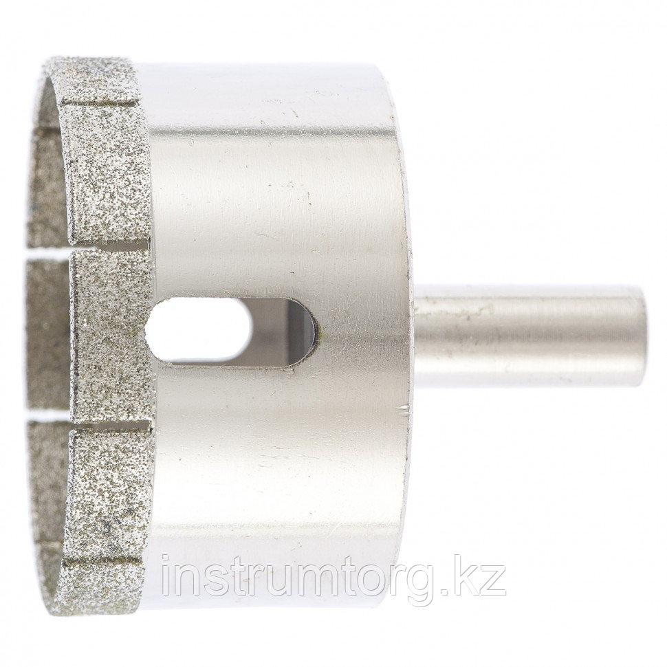 Сверло по стеклу и керамической плитке, 60 х 55 мм, цилиндр. хв.// СИБРТЕХ