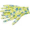Перчатки садовые из полиэстера с нитрильным обливом, зеленые, S// Palisad