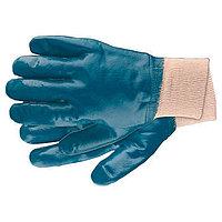Перчатки рабочие из трикотажа с нитриловым обливом, манжет L// Сибртех