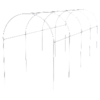 Каркас парника пластиковый 500 х 110 х 120 см, дуга d20мм, белый// Palisad