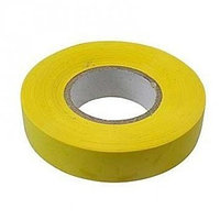 Изолента ПВХ, 19 мм х 20 м, желтая// Сибртех