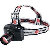 Фонарь налобный Zoom, CREE Q5 LED, 3 Вт, 160 лм, 100 м,3 режима: 100%-50%-строб, 3хААА// Stern, фото 1