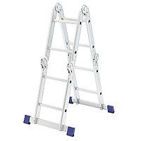 Лестница шарнирная алюминиевая, 4х2, Россия// Сибртех