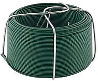 Проволока с ПВХ покрытием, зеленая 0,9 мм, длина 50 м// Сибртех, фото 1