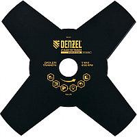 Диск для триммера, 230 х 25,4 толщина 1,6 мм, 4 лезвия// Denzel, фото 1