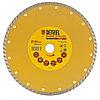 Диск алмазный отрезной Turbo, 230 х 22,2 мм, сухая резка// Denzel