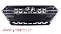 Решетка радиатора Hyundai Accent Solaris 2017-/хром/,решетка Хендай Акцент,