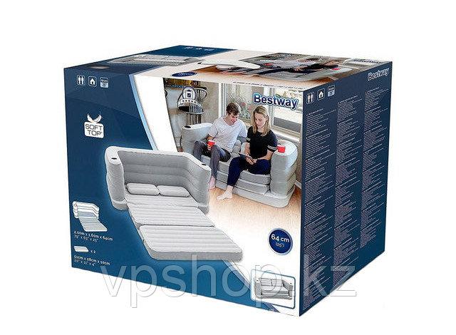 Надувной диван раскладной + подушки Multi Max II Air Couch 200x160x64 см, Bestway 75063 доставка