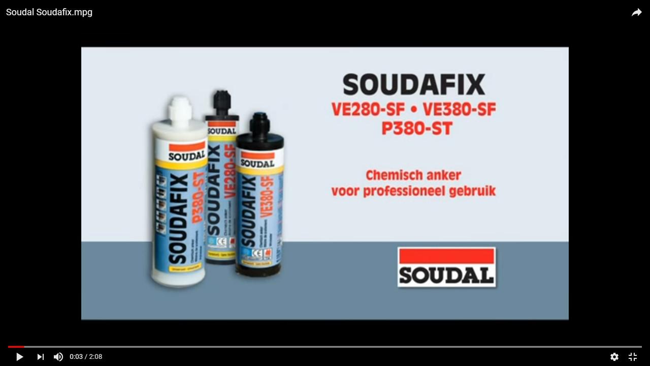 Винил эфирный химический анкер SOUDAFIX VE-SF