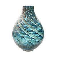 Стеклянная ваза 28 см