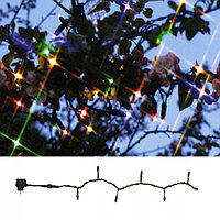 Гирлянда цепочка 10м разноцветная кабель черный 5м стартовая 98диодов LED System 24 outdoor 492-01-80