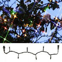 Гирлянда цепочка 10м разноцветная кабель черный дополнительная 98диодов LED System 24 outdoor 491-01-80