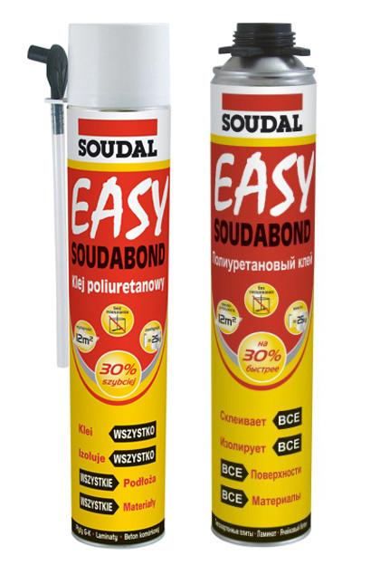 Быстросохнущий клей в аэрозоле Soudal Soudabond Easy