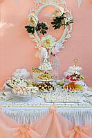 Декор сладкого стола, кенди бар на свадьбу