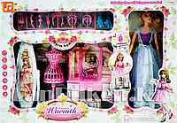 """""""Кукла с мебелью,зеркалом и туфелькой"""" Световые и звуковые эффекты 6952-A (Высота куклы 28 см)"""
