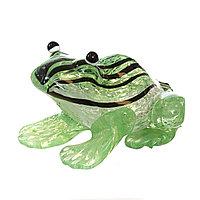 Статуэтка из стекла 9х9х6 см в форме жабы.